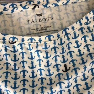 Talbots Tops - Talbots long sleeve crew neck anchor top